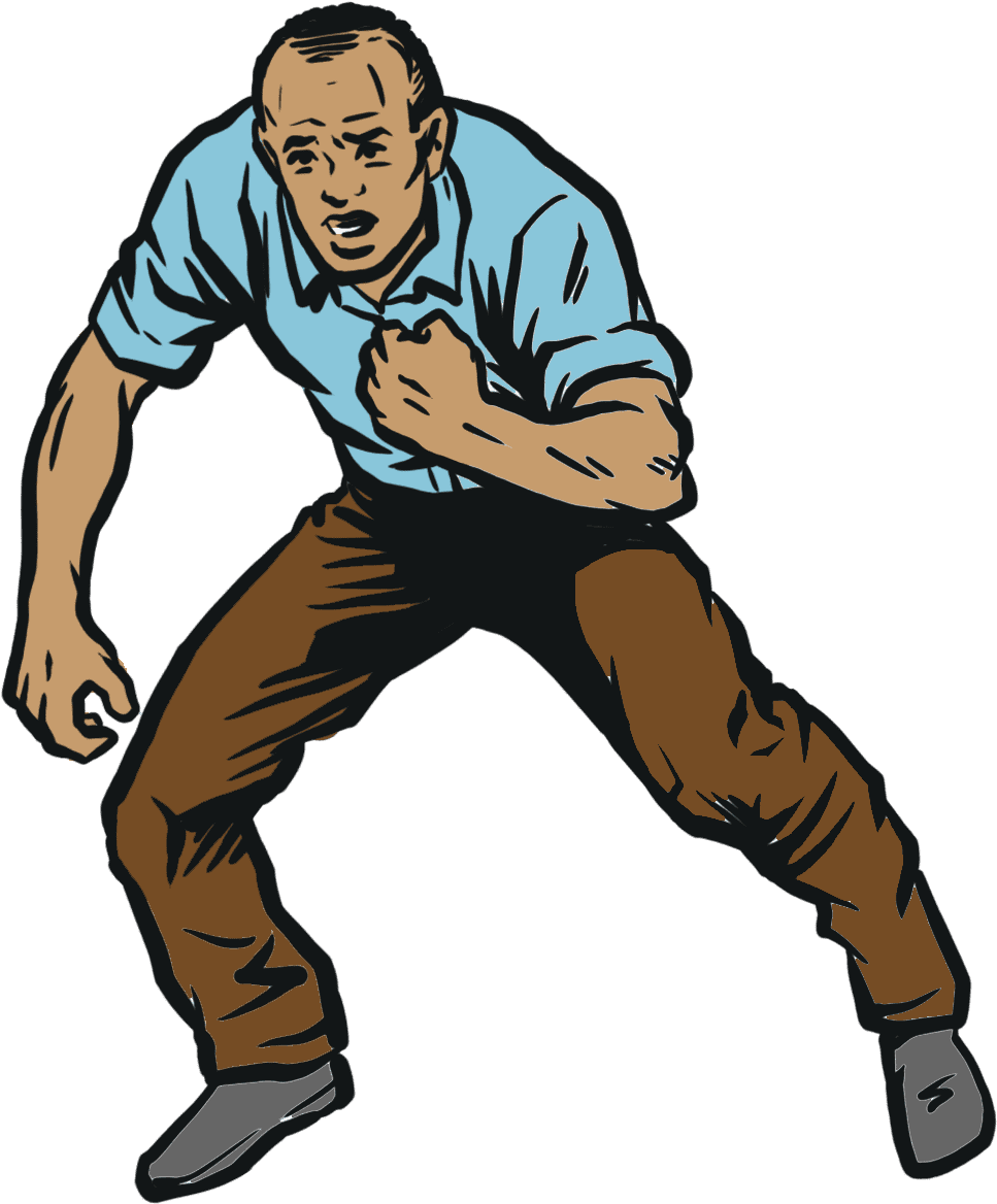 Homepage Animation - Blue Shirted Man