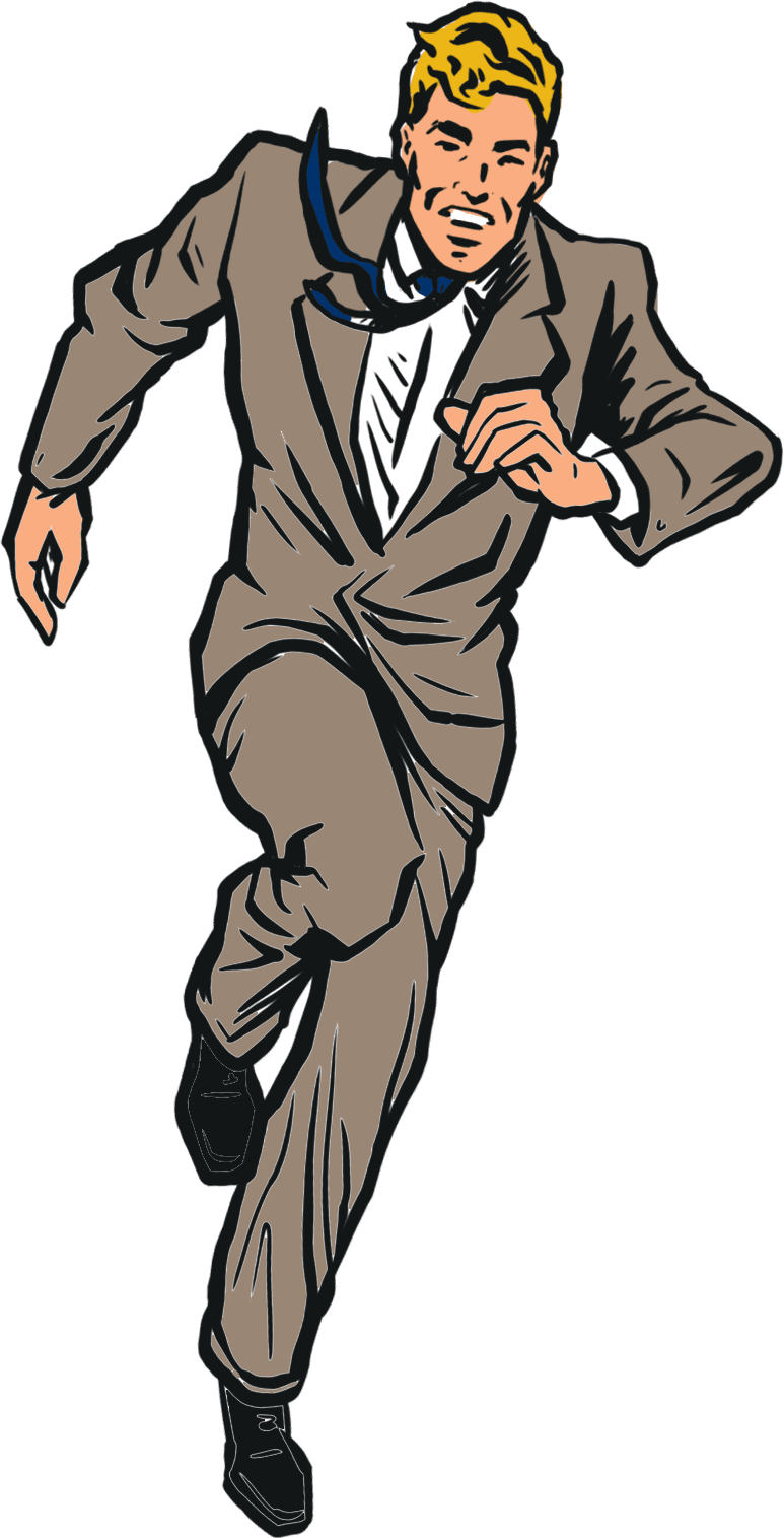 Homepage Animation - Suited Man