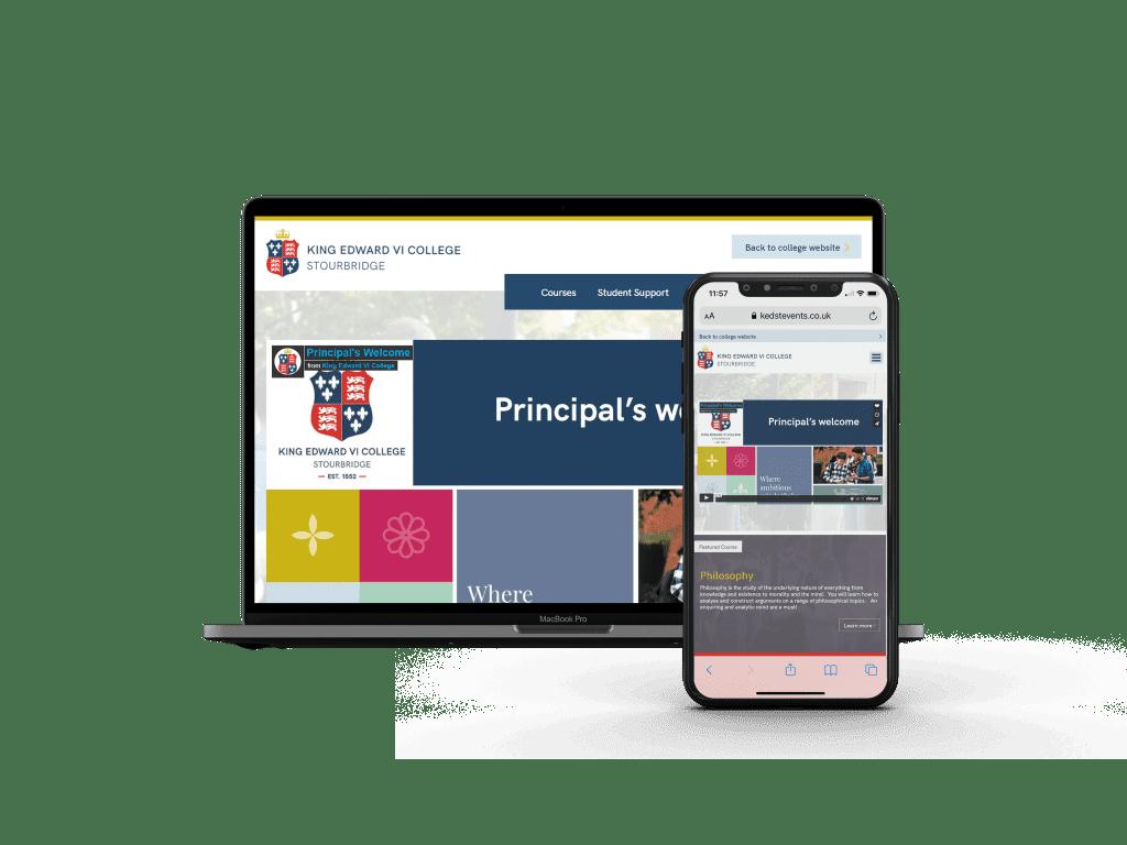 King Ed's website design
