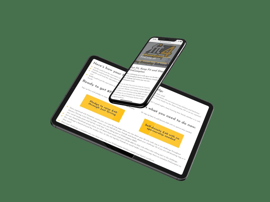 website mockup on ipad and iphone