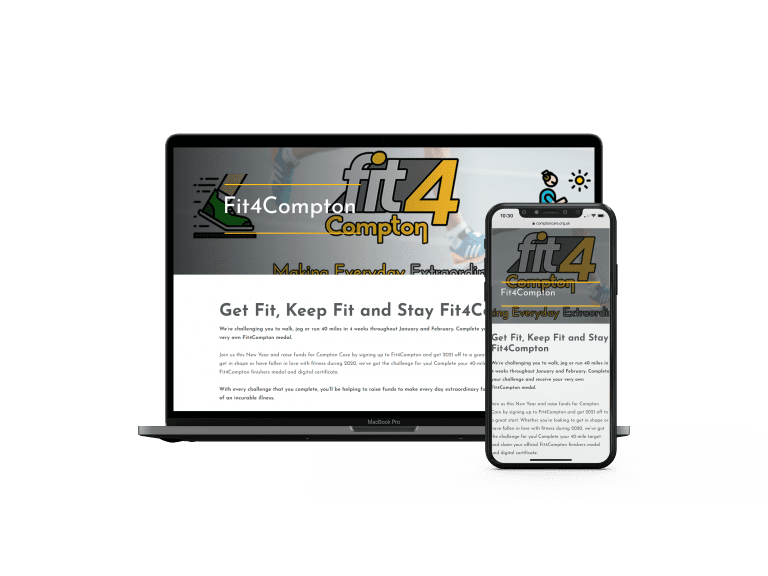 Fit 4 Compton website layout